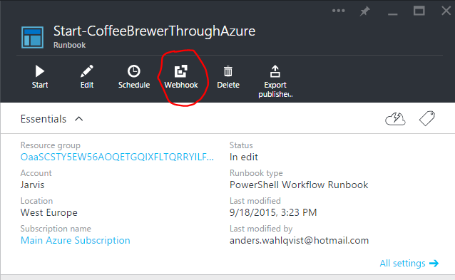 Brewing coffee with Azure Automation | DollarUnderscore